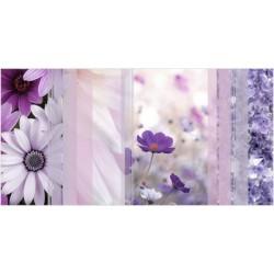 Вставка Коллаж на белом фиолетовая ВС9КЛ023
