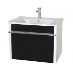 Шкаф (консольный) Париж 65 черный с мебельным умывальником ARTE 65