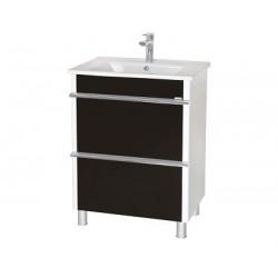 Шкаф (напольный) Париж 65 черный с мебельным умывальником ARTE 65