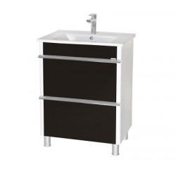 Шкаф (напольный) Париж 75 черный с мебельным умывальником ARTE 75