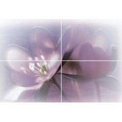 Декор Лила на белом фиолетовый ВС7ЛЛ023
