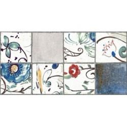 Плитка Лофт синий декорированный