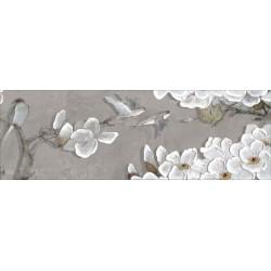 Вставка Поль на белом серая ВС11ПО027